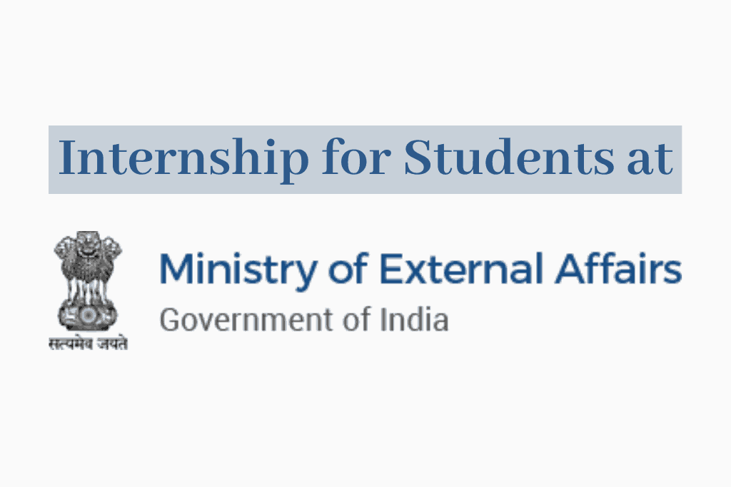 Ministry of External Affairs Internship